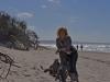 photo shoot on the windy beach